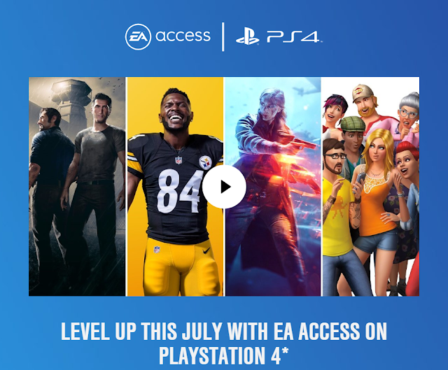 تسريب الألعاب القادمة بالمجان على خدمة EA Access من خلال فيديو إعلانها على جهاز PS4
