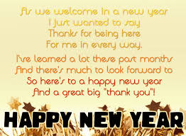 Happy New Year Poems for whatsapp