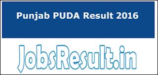 Punjab PUDA Result 2016