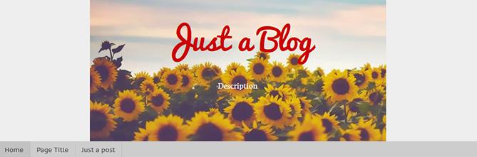 center blogger header