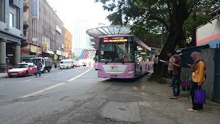 GoKL Purple line Bus Pasar Seni Kuala Lumpur