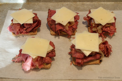 oven, broiler, pastrami stacks