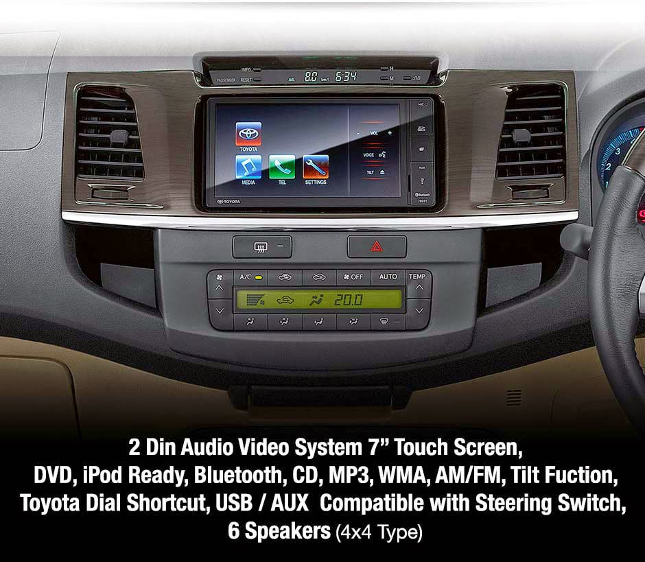 new-fortuner audio video-system