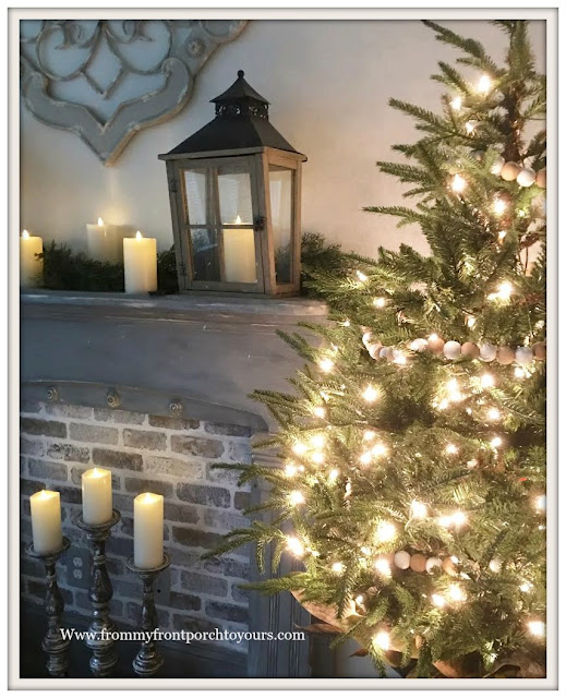 Christmas Tree-Christmas-Bedroom-French Country-French Farmhouse-Cottage Style-From My Front Porch To Yours