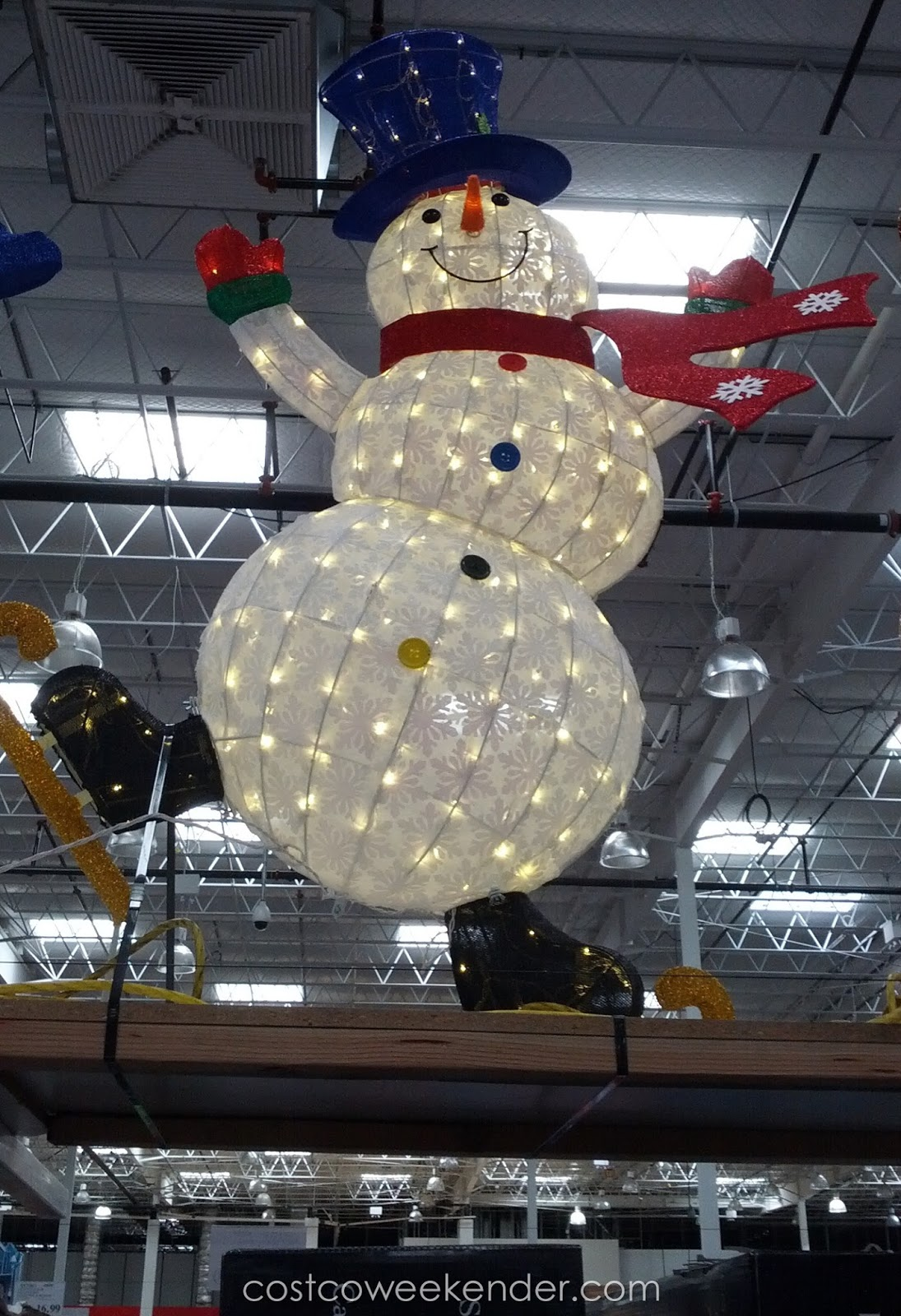 64 Quot Led Skating Snowman Costco Weekender
