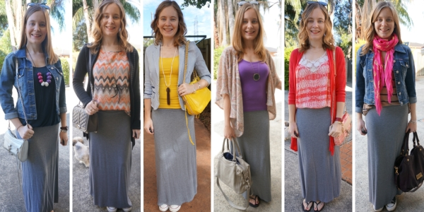 6 different ways to layer a maxi skirt for cooler weather | awayfromblue