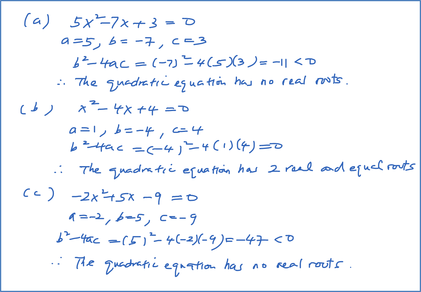 Discriminant of a Quadratic Equation - SPM Additional ...