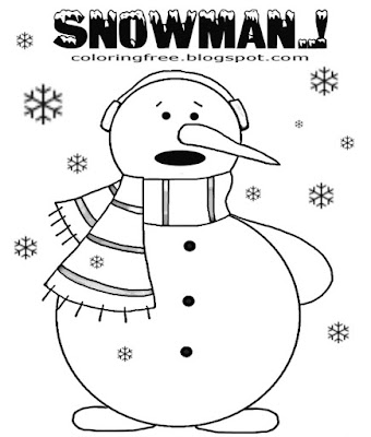 Lovely coloring pictures winter snowman simple Christmas drawing ideas for kids to color online free