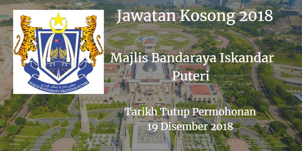 Jawatan Kosong Majlis Bandaraya Iskandar Puteri 19 Disember 2018