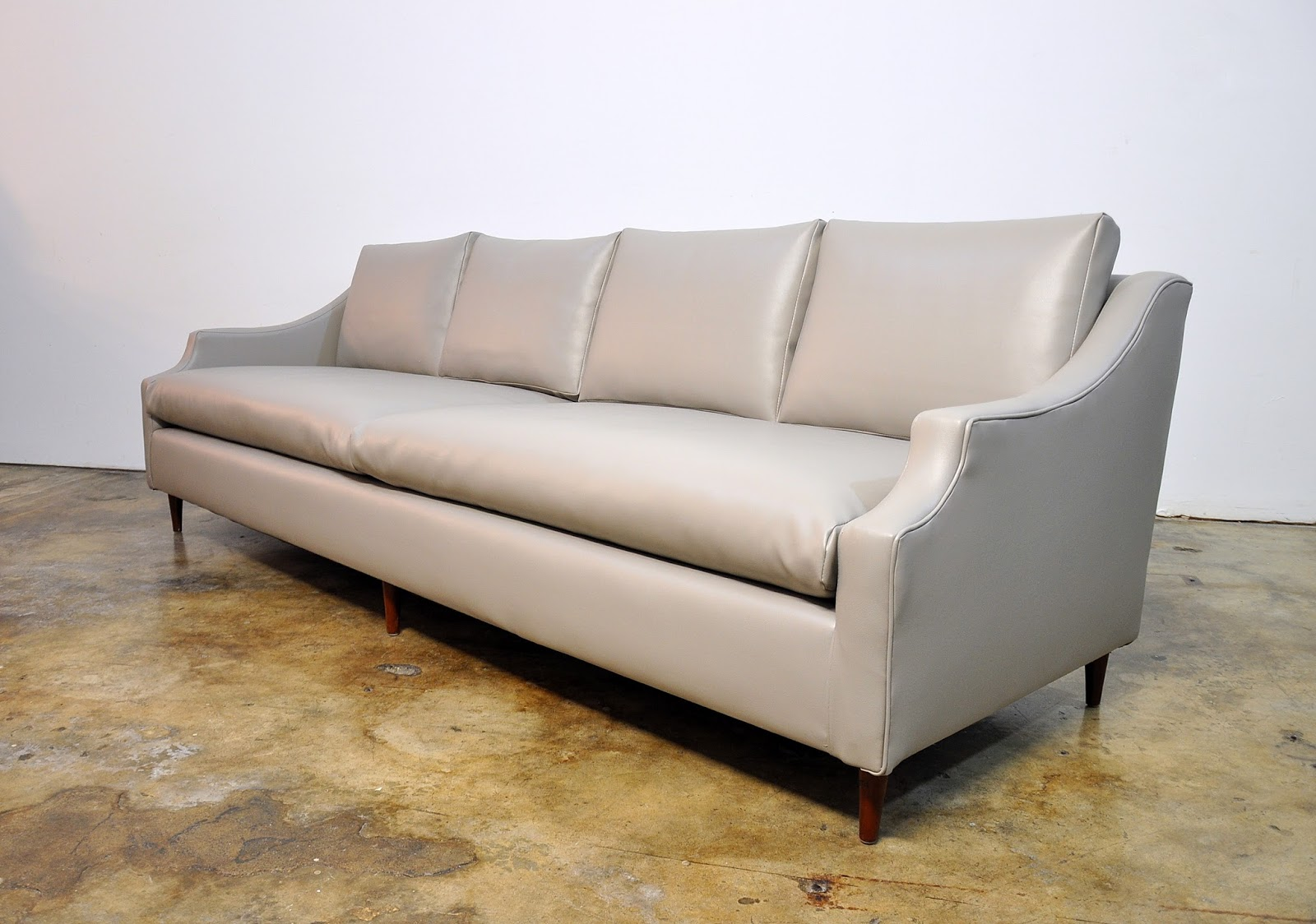Mid Century Modern Light Gray Sofa Avery Lovesac Sleeper Select