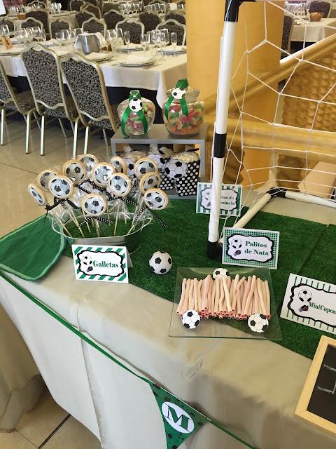 FUTBOL MESA DULCE comunion NIÑO BALON CUPCAKES PORTERIA Gandia Alcoy Valencia Xativa Ontinyent Galletas Tematizadas Futbol