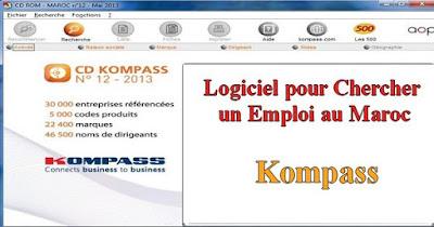 Application pour Chercher un Emploi au Maroc : Kompass