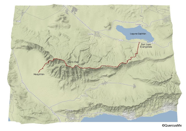 Ruta San Juan Evangelista - Cerro Viejo - Huejotitán