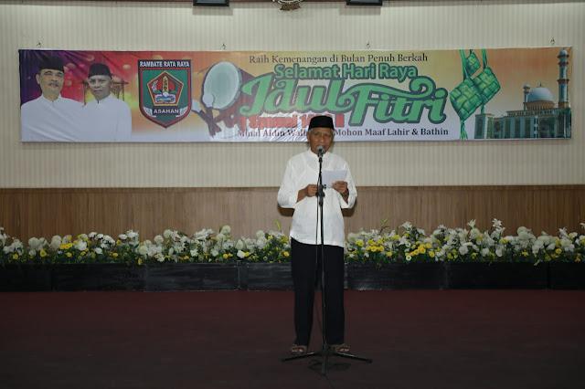 Wakil Bupati Asahan Surya saat mwmberikan kata sambutan.