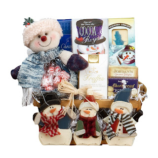 Frosty and Friends Christmas Holiday Snowman Gift Basket