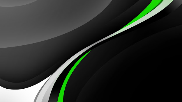 Black And Green Unique Vector Wallpaper