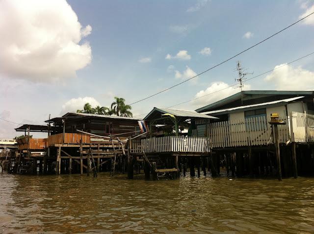 Vista de Bangkok desde los canales