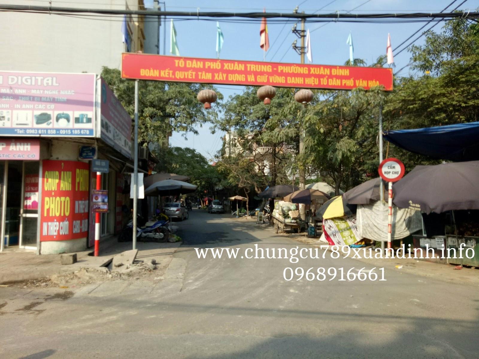Tổ dân phố Xuân Trung sẽ là tuyến Nguyễn văn huyên kéo dài mở rộng trong thời gian tới