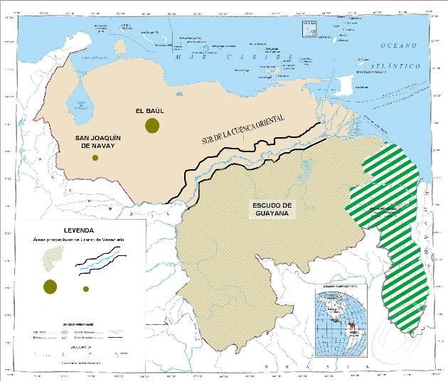Localización de Uranio en Venezuela