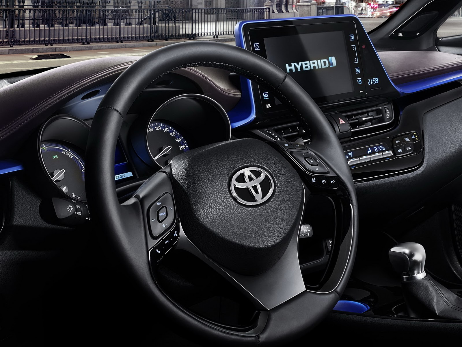 2017 toyota c hr small crossover s interior revealed w for Toyota chr interieur