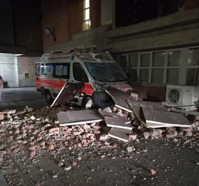 Italy earthquake: at least two dead as buildings collapse after 6.2 magnitude quake