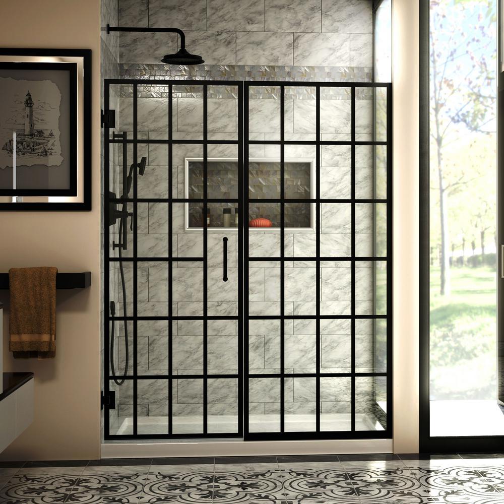 RRE Tribe & You: DreamLine Shower Door With Grid @ Home Depot