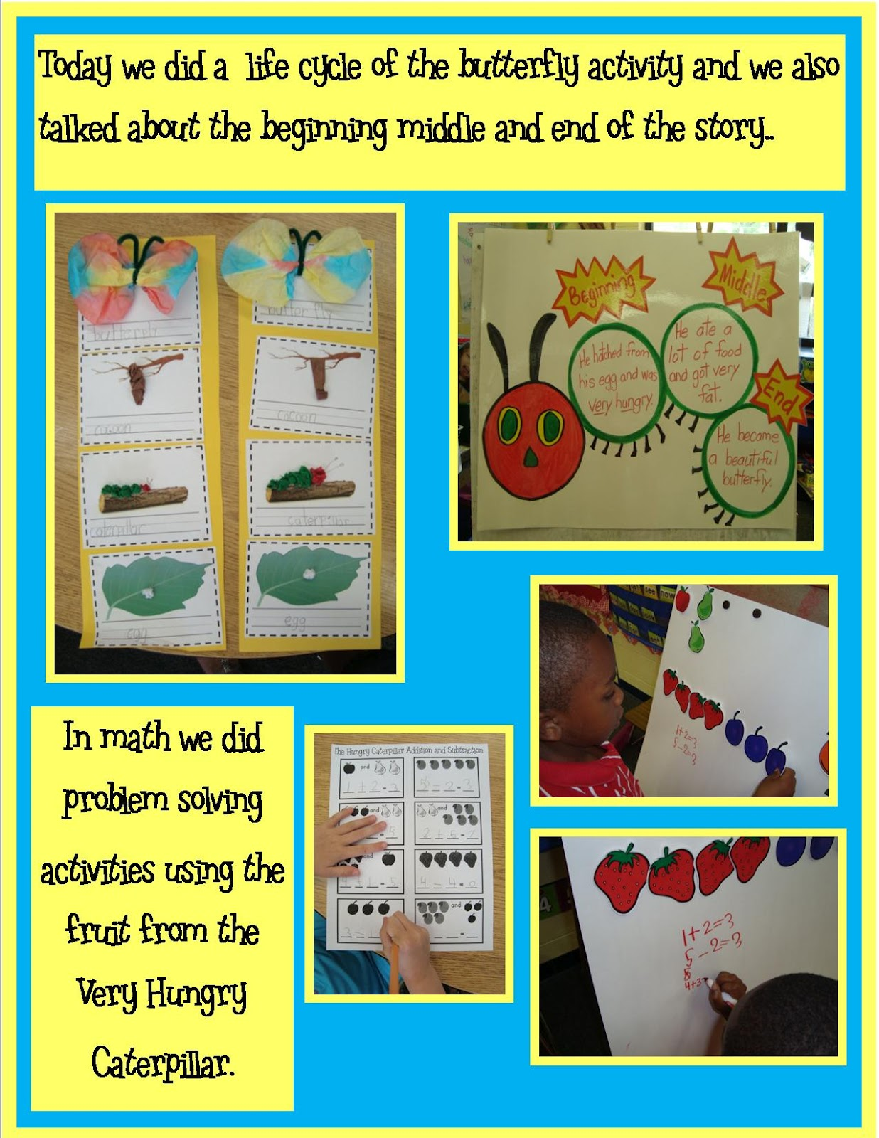 Golden Gang Kindergarten The Very Hungry Caterpillar