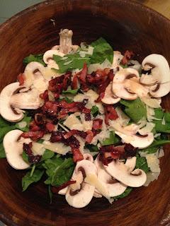Ensalada de espinacas, preparación 4