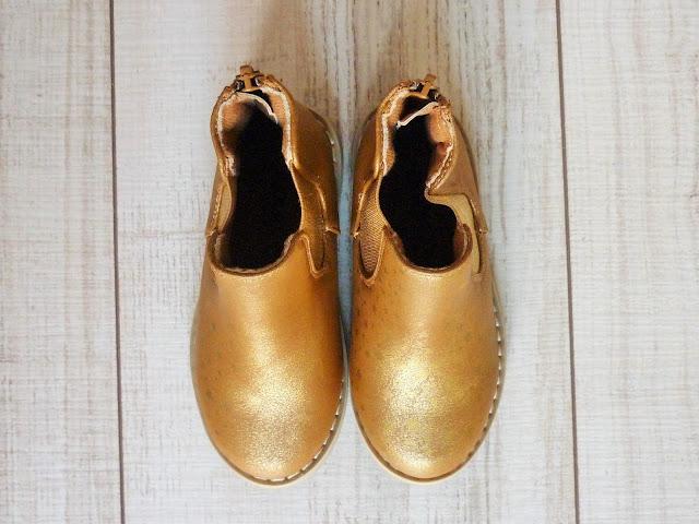 bottines dorées Kiabi