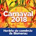 CDL Blumenau orienta lojistas sobre o horário do comércio durante o Carnaval 2018