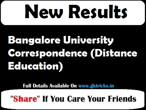 Bangalore University Correspondence (Distance Education)