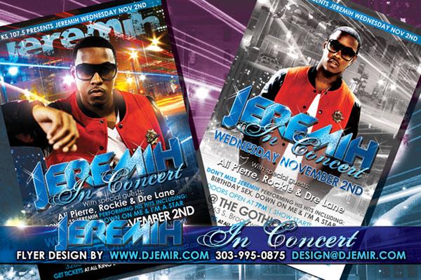 Jeremih Concert Flyer design