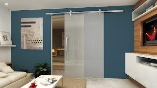foto de porta de vidro de correr marca vision