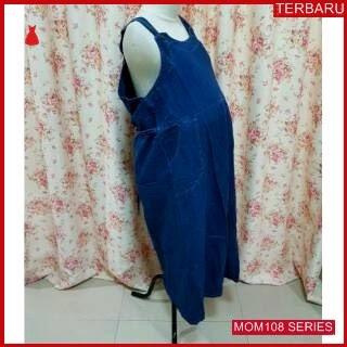 MOM108D16 Dress Hamil Overall Jumbo Jeans Dresshamil Ibu Hamil