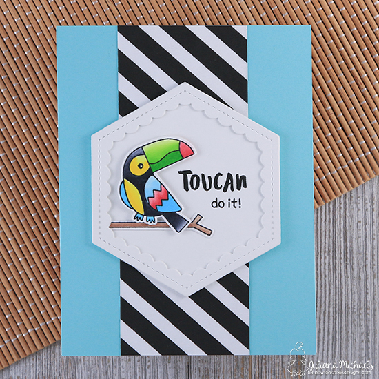 Toucan Card by Juliana Michaels  | Toucan Party Stamp Set and Die Set by Newton's Nook Designs #newtonsnook #handmade
