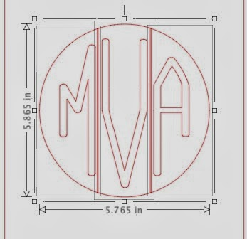 Circle monogram, Silhouette tutorial, free font, Silhouette Studio, ungroup