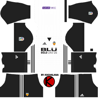 Valencia CF Kits 2017/2018 - Dream League Soccer