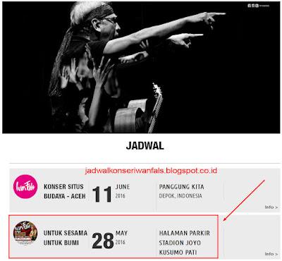 Konser Iwan Fals Pati Jawa Tengah