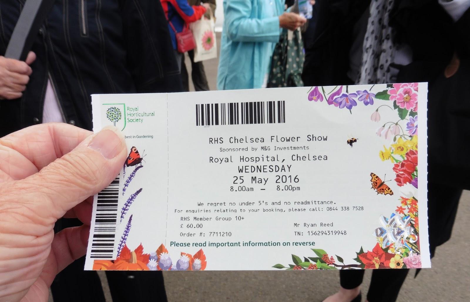 Chelsea Flower Show Cheap Tickets