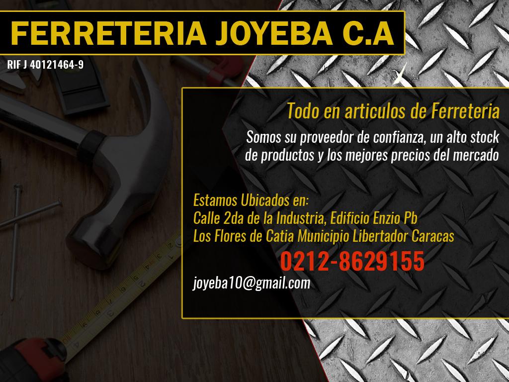 FERRETERIA JOYEBA C.A en Paginas Amarillas tu guia Comercial