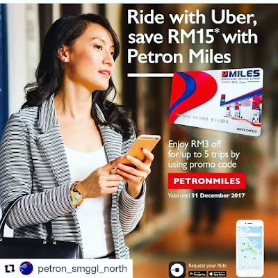 Petron Miles Card Malaysia Uber Promo Code Free Rides Discount Offer
