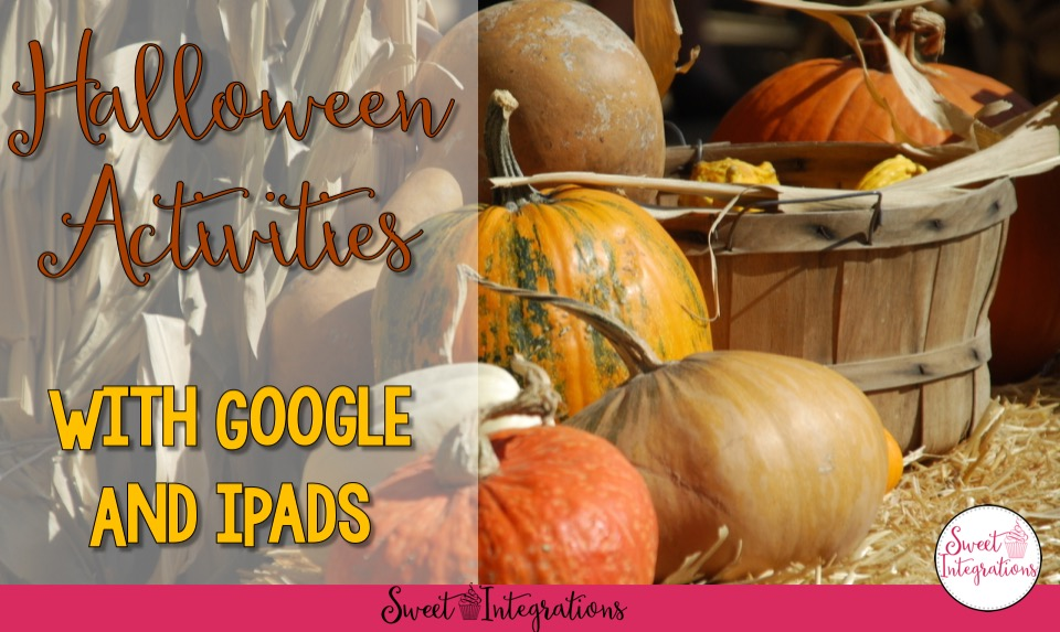 I've shared some fun Halloween learning activities for your students. These include FREE products, activities for the iPad, and Google.