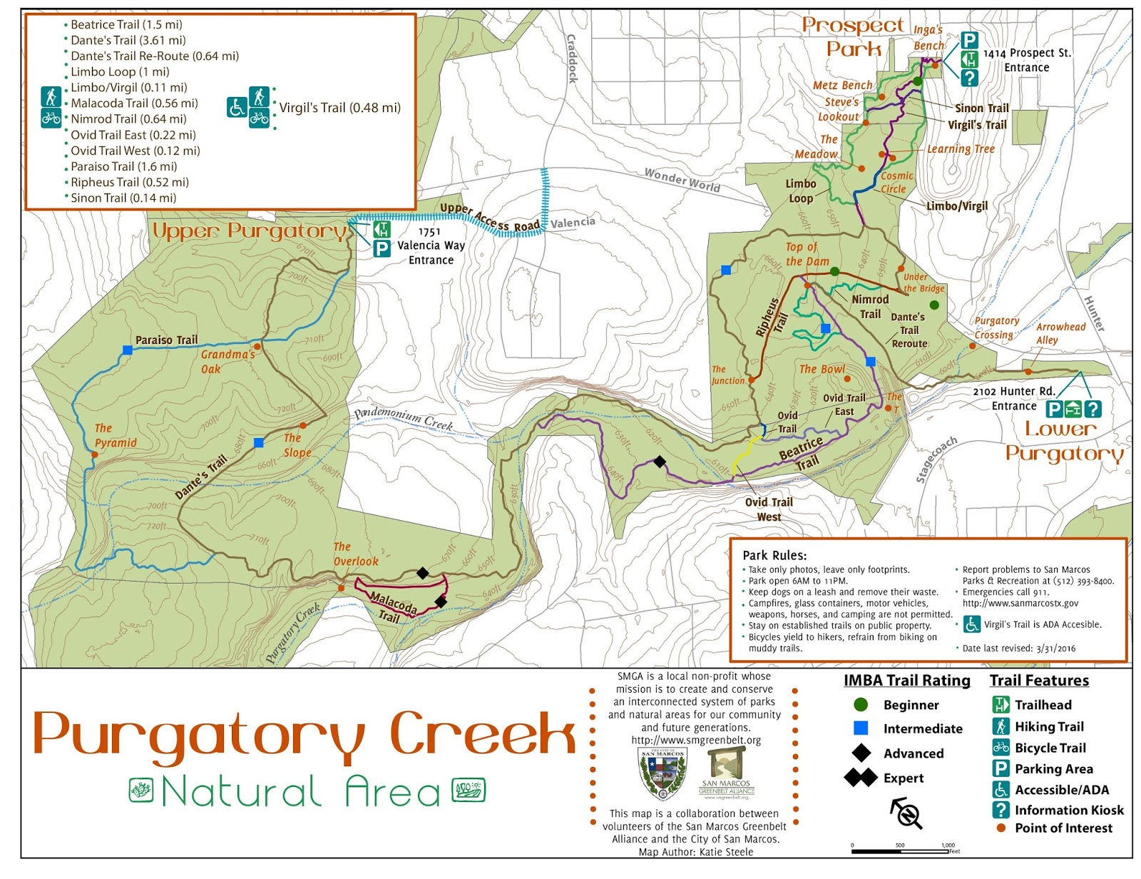 Temporary Purgatory Map | San Marcos Greenbelt Alliance on