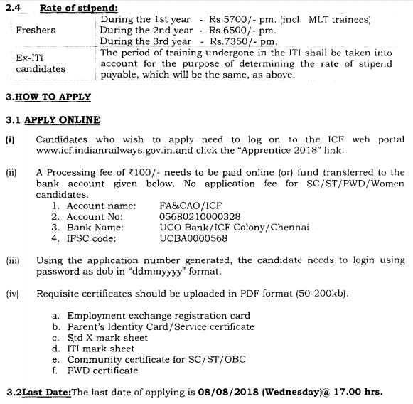 ICF Chennai Apprentice