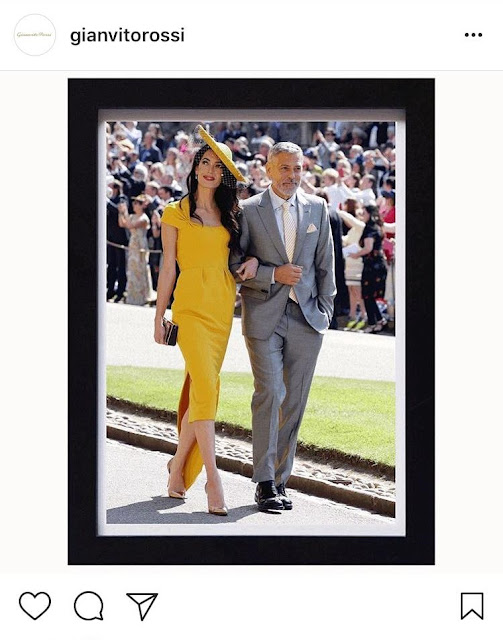 Amal Clooney Shoes at the Royal Wedding