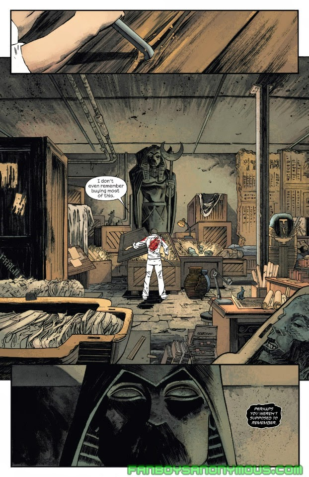 Follow the mystery of Khonshu, the Egyptian God of Vengeance and the Moon, in Moon Knight: Resurrection Wars on Marvel Digital Comics Unlimited