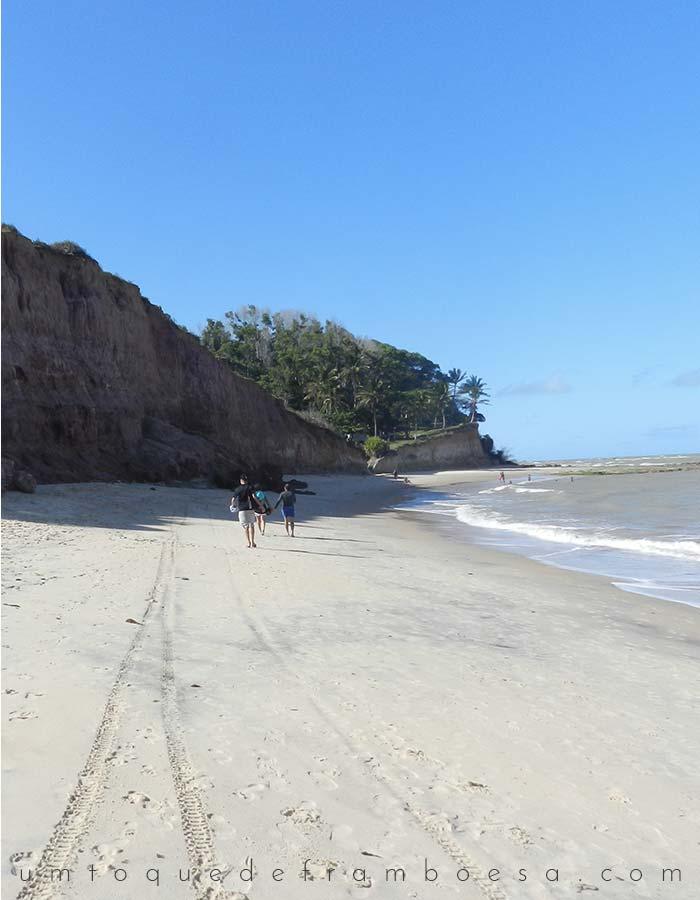 Praia da Paixão em prado, Bahia