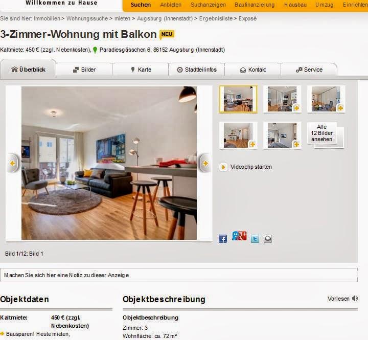 3 zimmer wohnung mit balkon. Black Bedroom Furniture Sets. Home Design Ideas