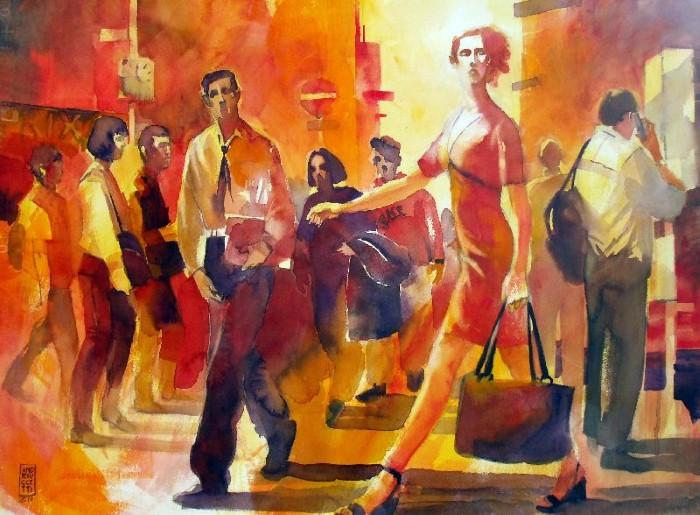 Акварельные рисунки. Alessandro Andreuccetti 9