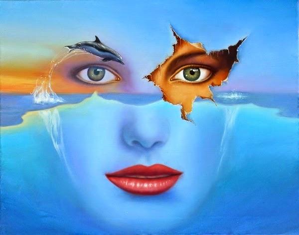 Observando o Sonho - Jim Warren pinta sonhos e ilusões de maneira fantástica.